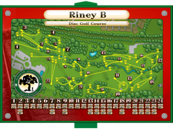 Disc Golf Tee Signs - Course Overview Signs  |Frisbee Golf Sign
