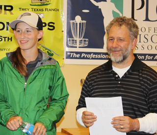 2015 Pro World Women's Champion Paige Pierce with John at the 2014 Amateur World Doubles