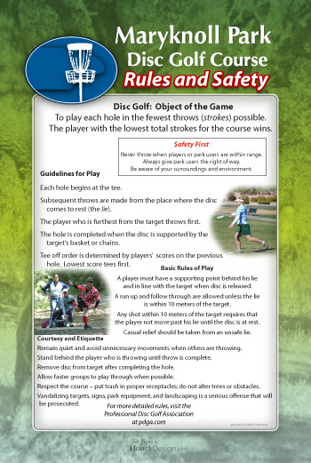 Disc Golf Tee Signs Rules Amp Safety Signs