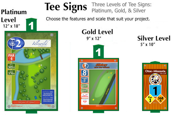 Disc Golf Tee Signs Course Signs Houckdesign